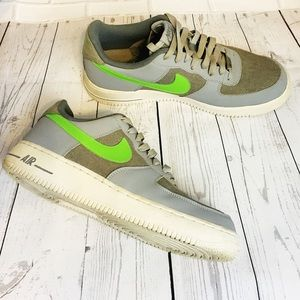 Nike Air Force 1s Gray/Green Sz 10